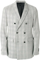 Calvin Klein double-breasted fitted blazer