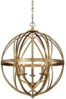 Lakewood Collection 5-Light Vintage Gold Sphere Pendant