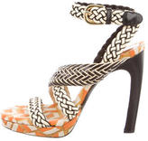 Dries Van Noten Leather Woven Sandals w/ Tags