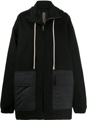 Rick Owens Oversize Padded Coat With Drawstring Detail