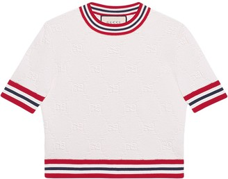 Gucci GG pattern knitted top