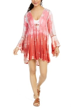 Raviya Tie Dye Bell-Sleeve Cover-Up Dress Women's Swimsuit