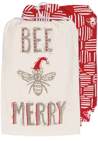 'Bee Merry' Dish Towel - Set of Two