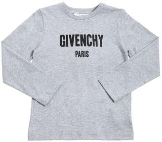 Givenchy LOGO COTTON JERSEY LONG SLEEVE T-SHIRT