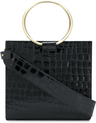 Tara Zadeh Open-Top Crocodile-Effect Tote Bag