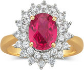 JCPenney FINE JEWELRY Lab-Created Ruby and White Sapphire Ring