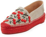 Castaner Kenda Cherry-Embroidered Espadrille Flat