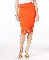 Thalia Sodi Grommet-Trim Scuba Pencil Skirt, Only at Macy's