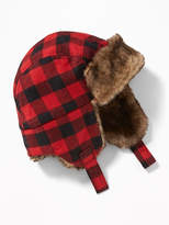 Old Navy Patterned Faux-Fur Trim Trapper Hat for Baby