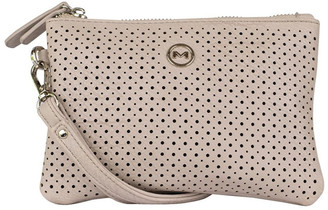 Mocha Perforated Take Me Coin Wallet -