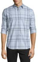 Vince Plaid Long-Sleeve Sport Shirt, Elderberry