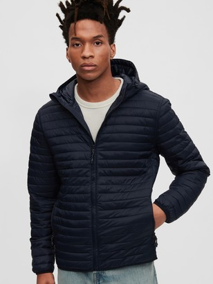 Gap Upcycled Hooded Lightweight Puffer Jacket