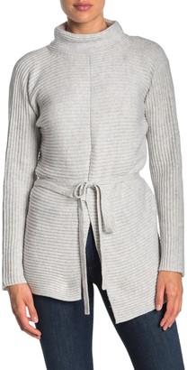 Vince Asymmetrical Tie Front Knit Sweater