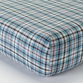 Bacati Boys Stripes and Plaids Blue Crib Fitted Sheet