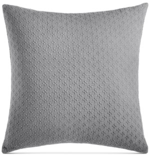 "Charter Club Closeout! Damask Designs Diamond Dot Cotton 300-Thread Count 18"" x 18"" Decorative Pillow, Created for Macy's Bedding"