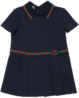 Gucci Cotton Jersey Dress W/ Web Details