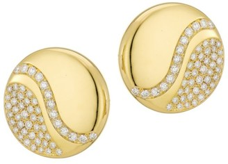 Brera Via 18K Yellow Gold & Diamond Stud Earrings