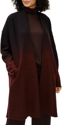 Eileen Fisher Ombre Boiled Wool Coat