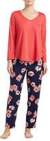 Oscar de la Renta Floral Pajama Set