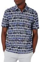 Topman Batik Stripe Shirt