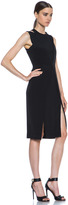 Cushnie et Ochs Silk Crepe Dress in Black