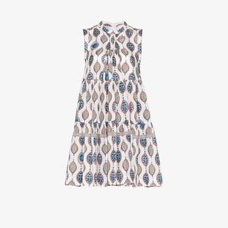Chloé Ceramic-Print Tiered Mini Dress