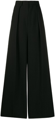 Ami Paris Woman Wide Fit Pleated Trousers
