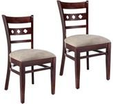 Ewell Linen Upholstered Solid Wood Solid Back Side Chair Red Barrel Studio Color: Dark Mahogany