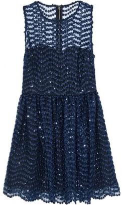 Alice + Olivia Daisy Sequin-embellished Tulle Mini Dress