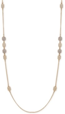 "DKNY Crystal Pave Geometric Station 42"" Long Necklace"