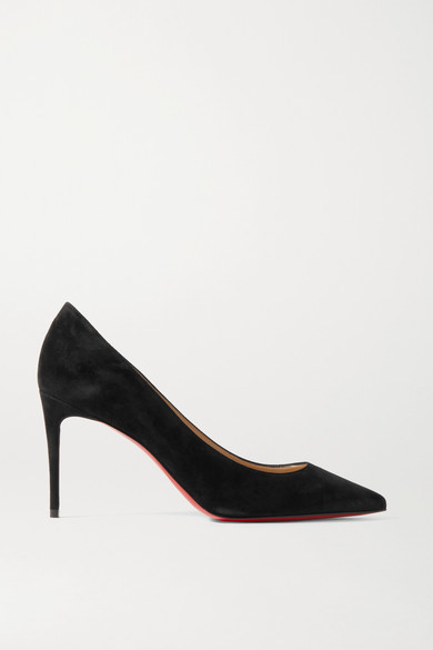 Christian Louboutin Kate 85 Suede Pumps - Black