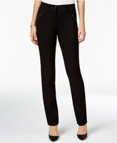JM Collection Curvy Studded Slim-Leg Pants, Only at Macy's