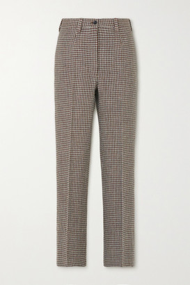Giuliva Heritage Collection The Altea Houndstooth Wool Straight-leg Pants - Brown