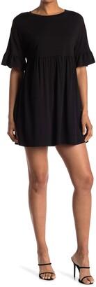 Kenedik Ruffle Sleeve Babydoll T-Shirt Dress