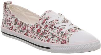 Converse Ctas Ballet Lace Pink Foam Egret White Floral