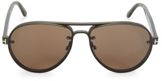 Tom Ford 62MM Rounded Aviator Sunglasses
