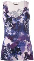 Roberto Cavalli floral print knit tank