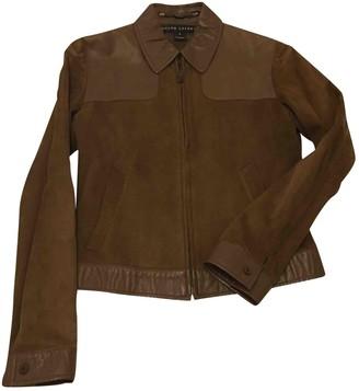 Ralph Lauren Camel Leather Jacket for Women