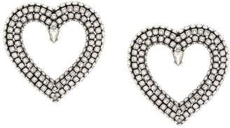 Balenciaga Heart Strass Earrings