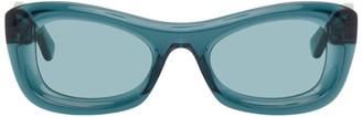 Bottega Veneta Blue Rectangular Sunglasses