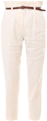 Brunello Cucinelli High Waist Cropped Trousers