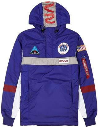 Alpha Industries Space Camp Blue Hooded Shell Jacket