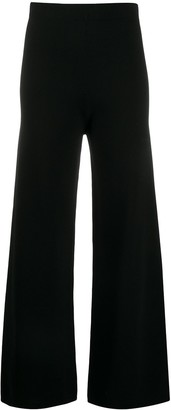 D-Exterior High-Waisted Wide Leg Trousers