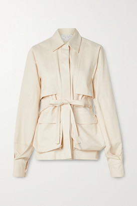 Deveaux Belted Cotton-twill Jacket - Cream