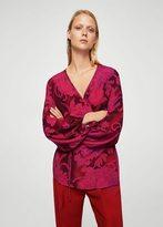 MANGO Wrap floral blouse