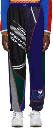 Ahluwalia Blue and Green Patchwork Jogger Lounge Pants