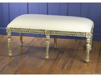 AA Importing Upholstered Bench Color: Parchment