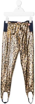 Billieblush Metallic Leopard-Print Leggings