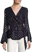 Saks Fifth Avenue RED Women's Dotted Blouse