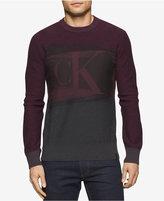 Calvin Klein Jeans Men's Colorblocked Graphic-Print Logo Sweater
